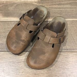 Birkenstock Birki's Distressed Clogs